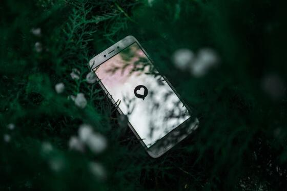 mobil v tráve