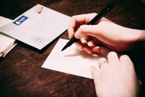 písanie listu